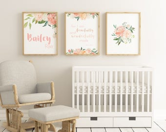 Delightful Baby Girl Boho Nursery, Christian Nursery For Baby Girl, Nursery Wall Art  Printable,