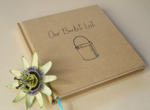 Free shipping our bucket list first anniversary gift journal