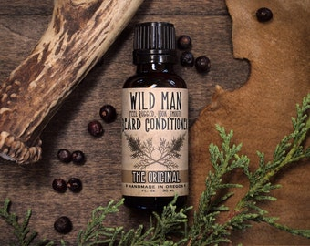 Wild Man Beard Oil Conditioner - The Original - 30ml // 1oz - Mens Gift Grooming