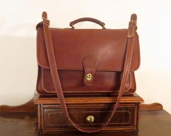 Dads Grads Sale Coach Metropolitan Briefcase Attache In British Tan Leather With Brass Hardware  Style No. 5180 - Made In USA - Mildly Worn