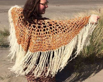Virus shawl- Pure wool shawl- summer shawl - hippy - Boho - festival