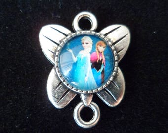 1 pendant Queen of snow Butterfly 25 x 20 mm