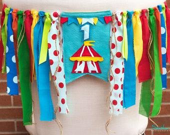 Circus Birthday Banner, Circus High Chair Banner, Circus Party Invitation, Circus Birthday Outfit, Circus Invitation, Circus Birthday  Crown