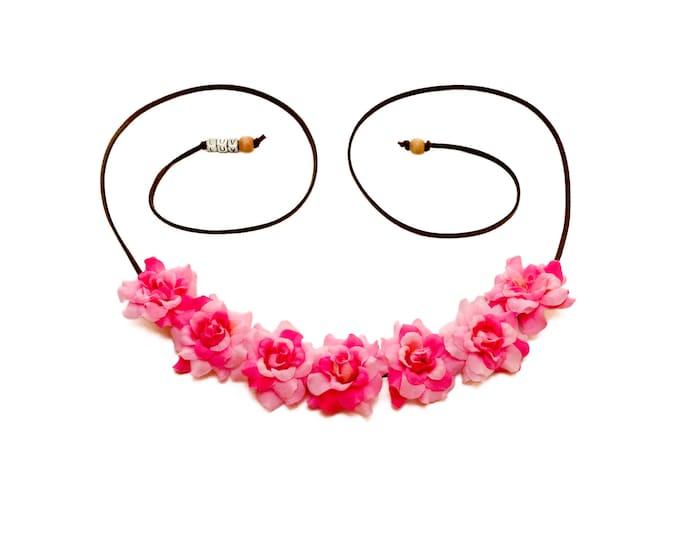 Light Pink Rose Flower Crown