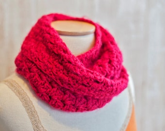 Soft, Fuzzy Crochet Cowl - Infinity Scarf - Stylish Winter Accessory - Wear Two Ways
