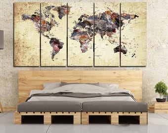 World map watercolor artlarge world mapworld map wall world mapworld map wall artworld map canvasworld map abstract gumiabroncs Image collections