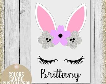 Easter bucket for girls, Easter Gift for girl, Toddler water bottle, Kids water bottle, Easter gift, Easter bunny gift, Easter Basket gift