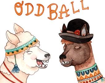 Favorite Oddball Alpaca Greeting Card
