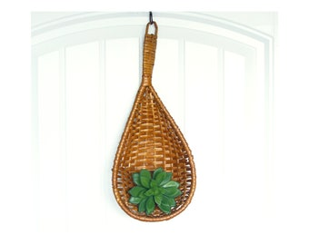 SALE Rattan Basket Scoop - Hanging Wicker Basket Spoon
