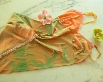 Tie Dye Slip Festival Slip Dress Hippie Dress Size Small 34
