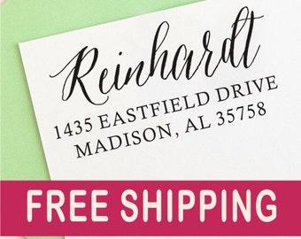 Return Address Stamp - Personalized Address Stamp, Custom Rubber Address Stamp. 1053