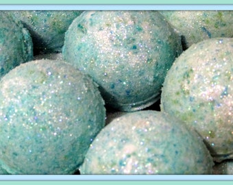 Mermaid Kisses Bath Bomb Fizzies set of 2 (Handmade, luxurious, Individually packaged and labeled) each wt. 2.8 to 3 oz Net