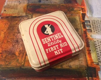 Sentinel First Aid Kit Tin - 1940s-1950s