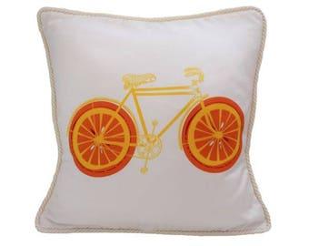 Blood Orange Bicycle Pillow