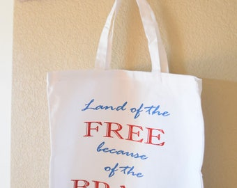 Everyday Tote Bag- Land of the Free