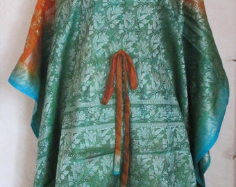 Indian silk chiffon long kaftan