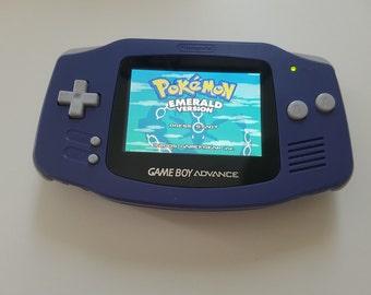 Nintendo Gameboy Advance Console Grape backlight AGS 101 - New Glass Lens