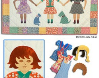 Paper doll Quilt BFF Dresses and Do's