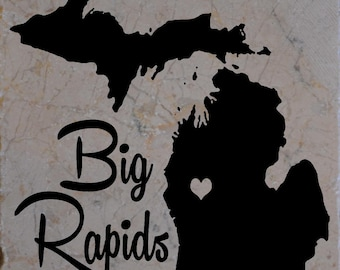 Set of 4 Big Rapids Coasters Free Shipping