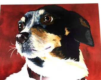 Watercolor Dog Wall Art, Ready To Frame Wall Decor, Gift For Dog Lover, Dog Painting Room Decor, Dog Lover Gift Idea, Dog Themed Wall Art