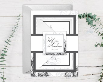 Wedding Invitations - DEPOSIT TO START Soft Romance Suite - Custom Wedding Invites - Personalized Wedding Invitations - Weddings - #wdi-108b