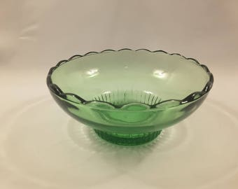 Vintage E O Brody Wide Opening Scalloped Edge Bowl