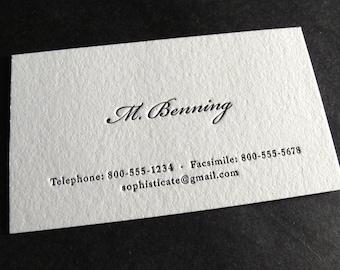 Letterpress business cards etsy more colors 250 custom letterpress business cards colourmoves