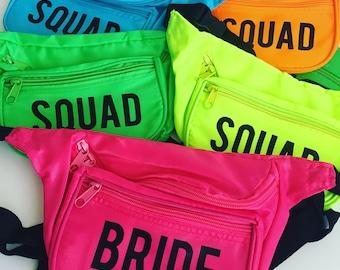 Neon Custom Printed Squad Fannypack