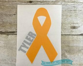 Memorial Ribbon Decal / Support Ribbon Decal / Survivor Ribbon Decal / Cancer Awareness Ribbon / Cause awareness Decal/ Ribbon Decal /