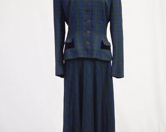 1940s plaid suit