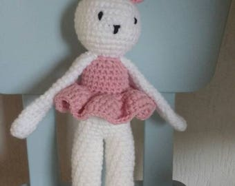 Knuffelkonijn Sofia gehaakt/Stuffed Rabbit crochet