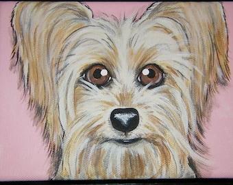 Pet Portrait Painting Custom 5x7