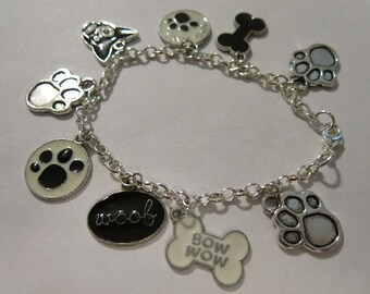 Dog Themed Charm Bracelet