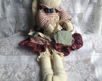Fabric decor rabbit doll
