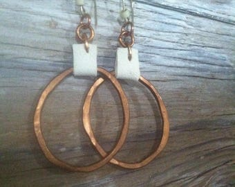 Copper and Leather Hoops