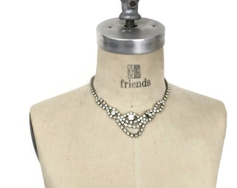 Statement Rhinestone Necklace for Bride or Prom