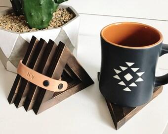 Triangle Cedar Coasters - Set of 4