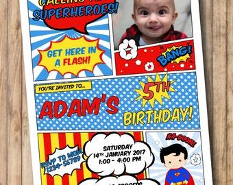 Superman invitations Etsy