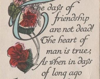 Vintage Friendship Postcard