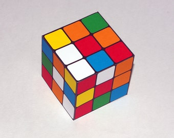 Rubik's Cube Style Gift Box - Favor Box, Treat Box - Printable PDF, Instant Download