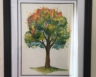 """LIMITED EDITION 1/5 Giclee Print """"Colors of Life 2"""" watercolor painting"""
