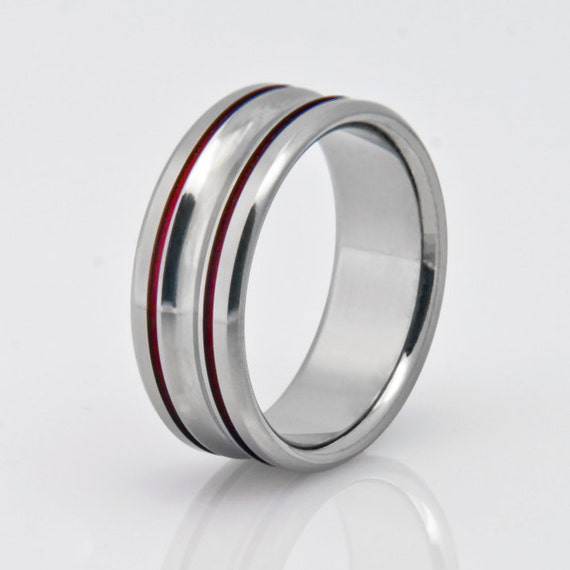 Titanium Wedding Band Womens Titanium Ring Mens Titanium