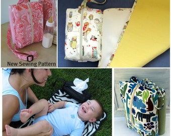 How to Make a  Zippered Travel Change Pad Bag