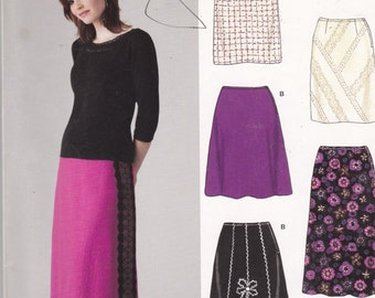 New Look 6624 Vintage Pattern Womens Skirt In 6 Variations Size 8,10,12,14,16,18 UNCUT