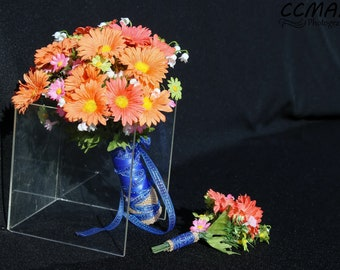 Spring Sale Special on this Alabama Prom Mini Bouquet with matching Boutonniere