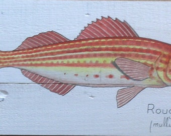 Red Rock watercolor on wood