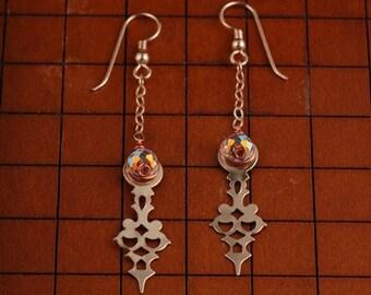 Steampunk Earrings - Brass Earrings - Clock Hand Earrings - Dangle Earrings