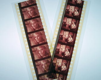 Bonnie and Clyde Recycled Film Mini Bookmark Set of 2