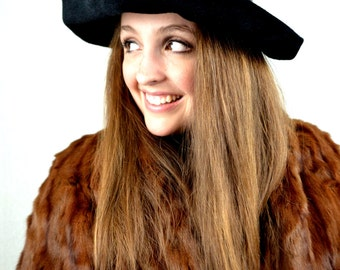 Vintage 1960s Mr John Jr Felt Fur Hat