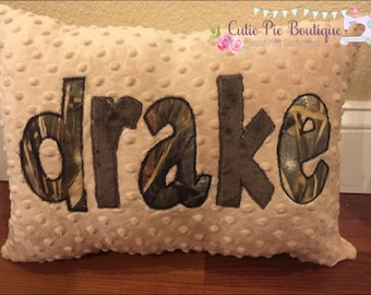 Personalized Pillow Cover- Custom Travel Pillow Case- Throw Pillow Cover -Monogrammed Pillow - Name Pillow